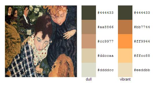 Палитра цветов с картин Пьера Боннара 6