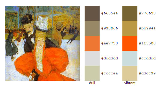 Палитра цветов с картин Пьера Боннара 10