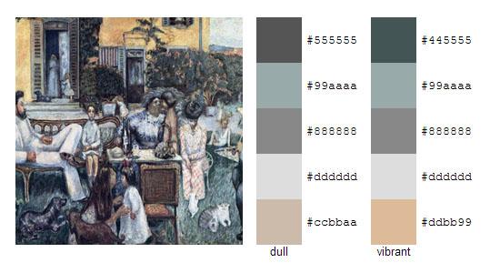 Палитра цветов с картин Пьера Боннара 15