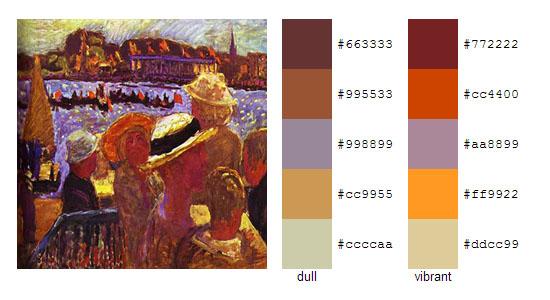 Палитра цветов с картин Пьера Боннара 19