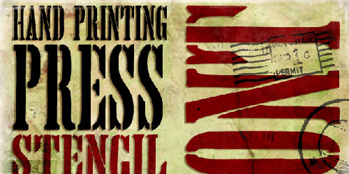 Перейти на Hand Printing Press Stencil