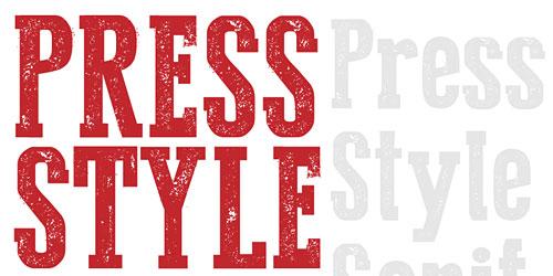 Перейти на Press Style Serif