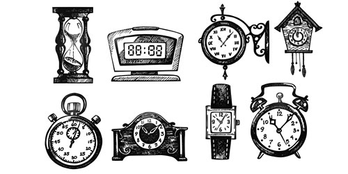 Перейти на Set of Vintage Clock Photoshop Brushes