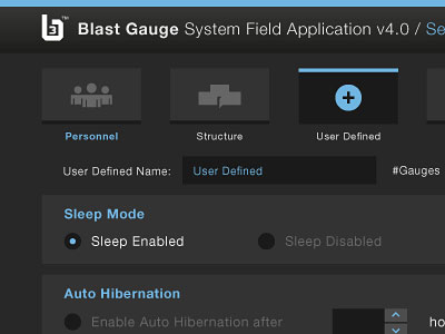 Blast Gauge Interface
