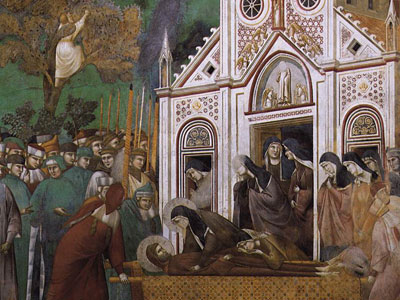 Перейти на St. Francis Mourned by St. Clare