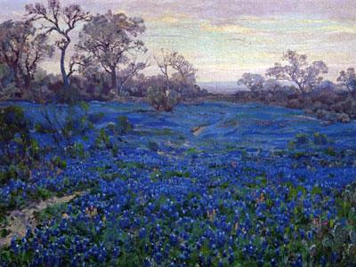 Перейти на Bluebonnets At Twilight Near San Antonio, 1920
