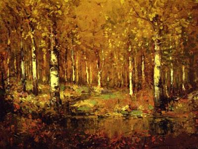 Перейти на Autumn Birches Central Park, 1909