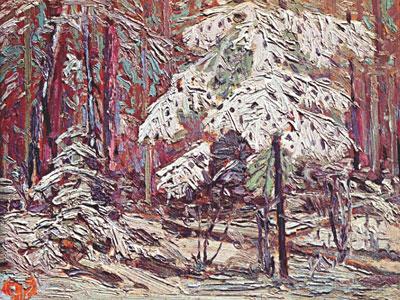 Перейти на Snow In The Woods, 1916