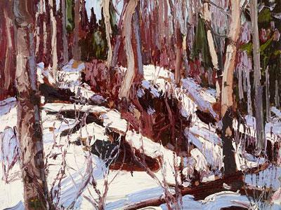 Перейти на Winter Thaw In The Woods, 1917