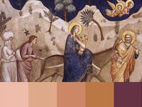20 готовых цветовых палитр с картин художника Джотто