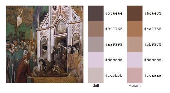 Палитра цветов с картин художника Джотто 2