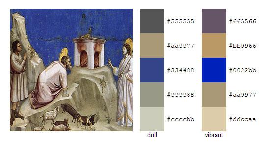Палитра цветов с картин художника Джотто 6