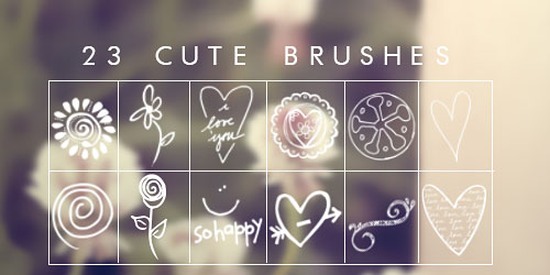 Перейти на Cute Brushes
