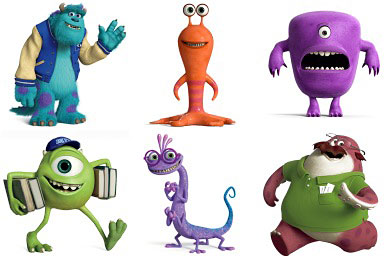 Перейти на Monsters University Icons