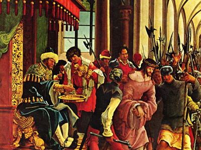 Перейти на Пилат умывает руки перед народом