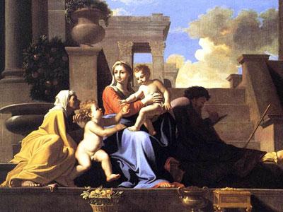Перейти на Святое семейство на ступенях
