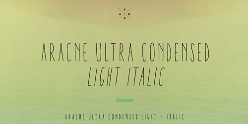 Перейти на Aracne Ultra Condensed Light