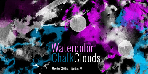 Перейти на Clouds Chalk Watercolor Brushes