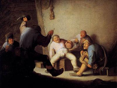 Перейти на Peasants Drinking And Making Music In A Barn