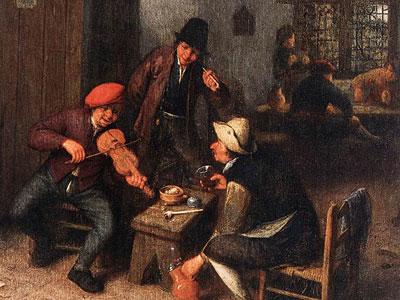 Перейти на Interior Of A Tavern With Violin Player