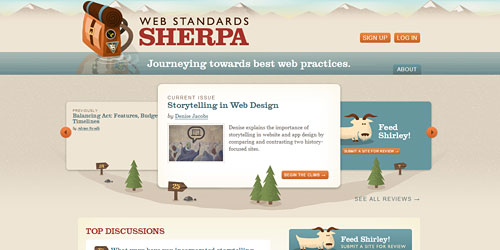 Перейти на Web Standards Sherpa