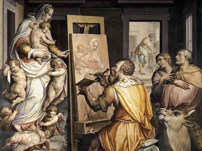 Перейти на St Luke Painting The Virgin