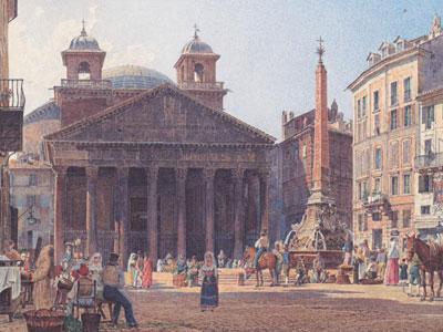 Перейти на The Pantheon And The Piazza Della Rotonda In Rome