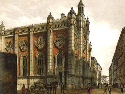 Перейти на Jewish Temple In The City Leopold
