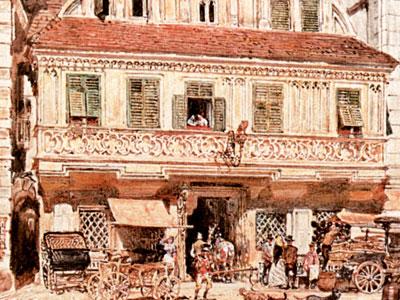 Перейти на Watercolour Of Steyr Bummerlhaus