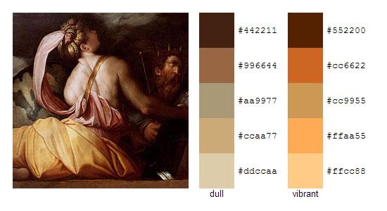 Палитра цветов с картин художника Джорджо Вазари 4