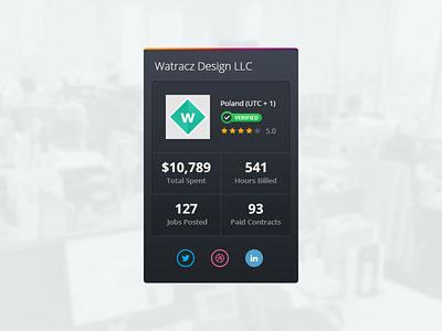 Client Info Widget