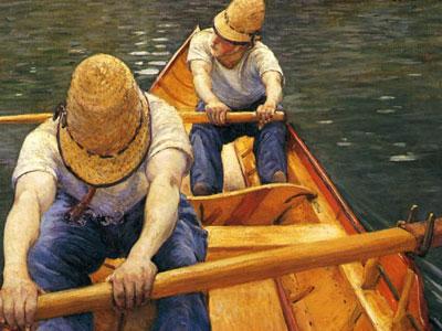 Перейти на Boaters Rowing On The Yerres