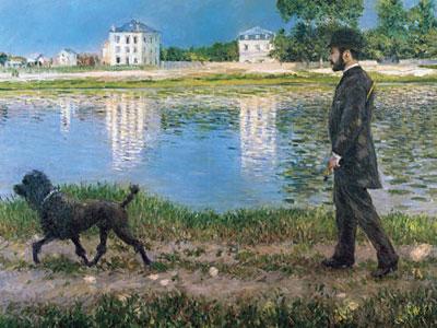 Перейти на Richard Gallo And His Dog At Petit Gennevilliers