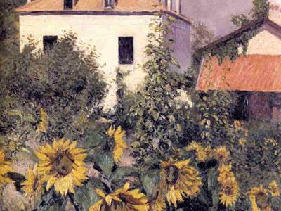 Перейти на Sunflowers In The Garden At Petit Gennevilliers