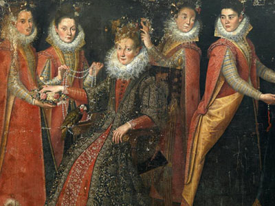 Перейти на Portrait Of Five Women With A Dog And A Parrot