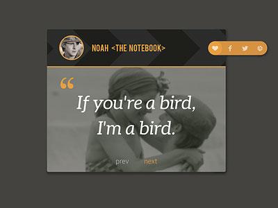 Movie Quote Ui Idea