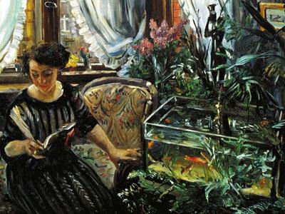 Перейти на Woman By A Goldfish Tank