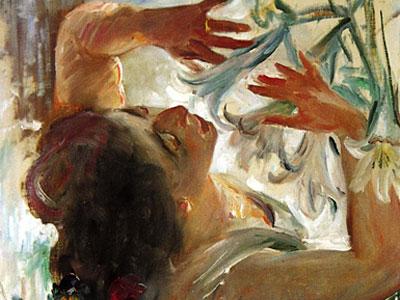 Перейти на Woman With Lilies In A Greenhouse