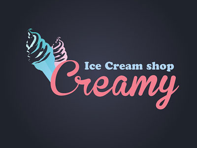 Перейти на Creamy Ice cream Logo Idea