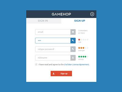 GameHop register