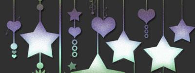 Скачать Ps Brushes   Hanging Stars V 1 By Digitalkitt3n