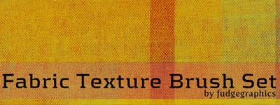 Скачать Fabric Texture Brush Set By Fudgegraphics