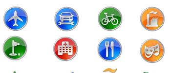 Скачать Points of Interest Icon Set