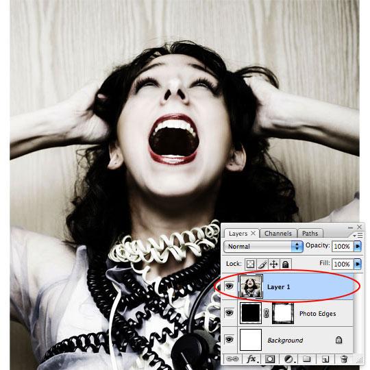 Простой способ создать в фотошопе гранжевый бордюр вокруг фотографии