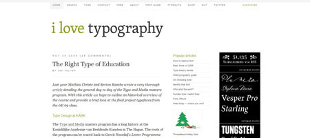 Перейти на I Love Typography