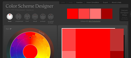Перейти на Color Scheme Designer