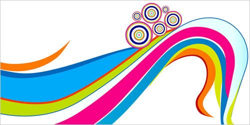 Цветные волнистые линии