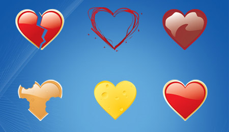 Скачать Package of 9 Love Icons