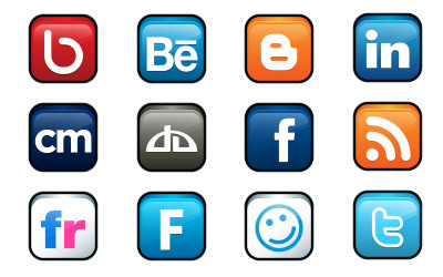 Скачать Social Networking icons (20 штук)