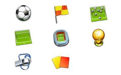 Скачать Soccer icons (8 штук)